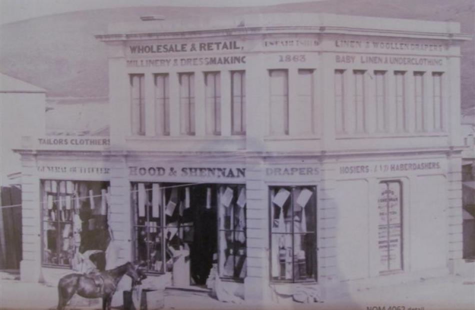 The original Oamaru stone building on the corner of Itchen and Tees Sts when constructed in 1871...