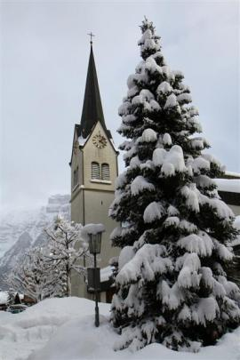The Pfarrkirche church, in Mellau, looks every bit the Christmas card, surrounded by snow. Photos...