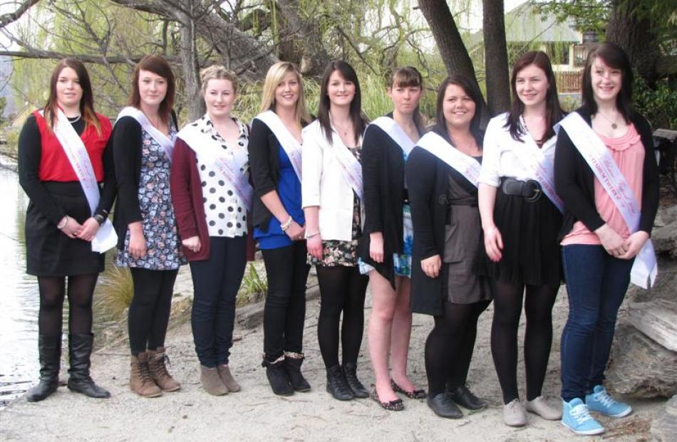 The princesses competing for the title of 2011 Blossom Festival Queen from left: Jess Linwood (17...