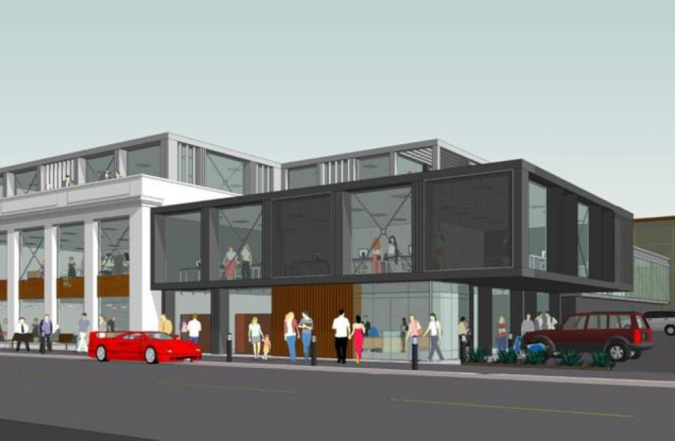 The proposed redevelopment of the rear of Harvest Court Mall in Great King St, Dunedin. Graphic...