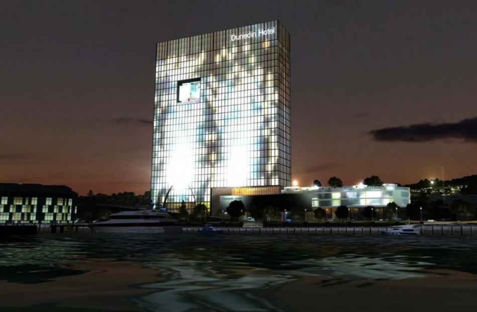 The proposed waterfront hotel. Image supplied.
