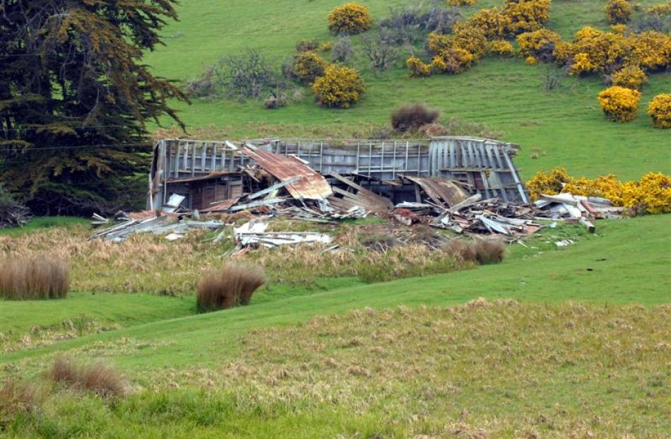 The remains of a large corrugated-iron dome building from the New Zealand and South Seas...