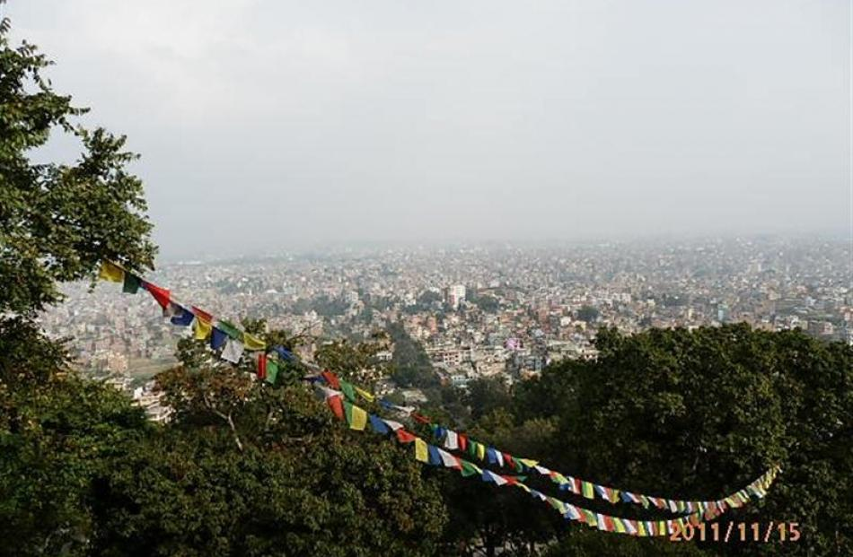 The 'scenic overlook' of Kathmandu. Photos by Martin O'Malley.