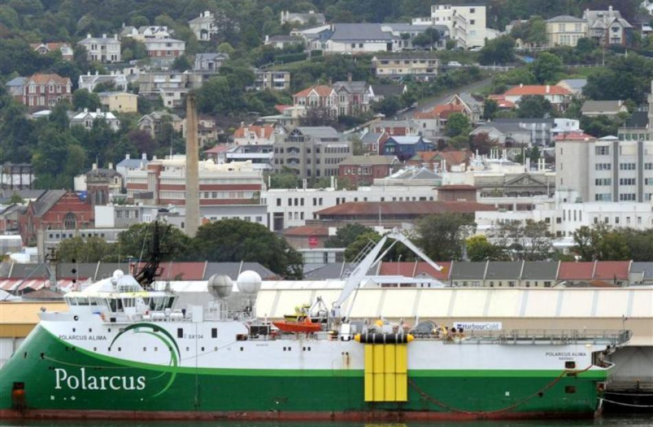 The seismic survey ship Polarcus Alima in Dunedin in 2012. New Zealand Oil and Gas has now...