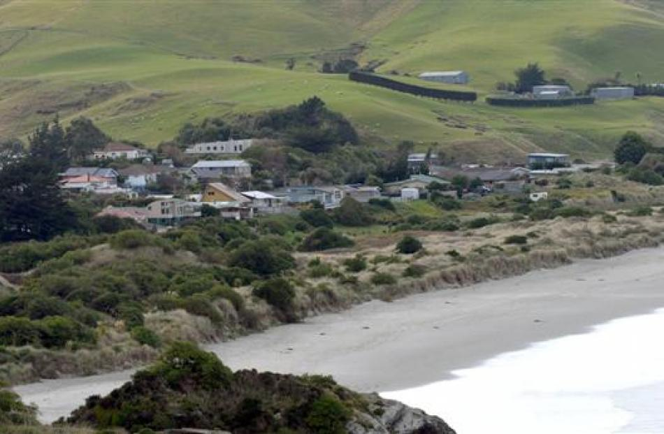 The settlements of Ocean View (pictured) and Aramoana have been identified as coastal hazard...