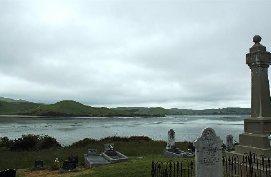The small cemetery at Waikawa offers a pretty view, even on a grey afternoon.