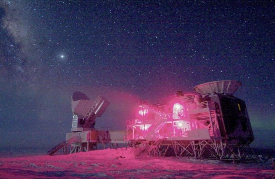 The South Pole Telescope and the BICEP (Background Imaging of Cosmic Extragalactic Polarization)...