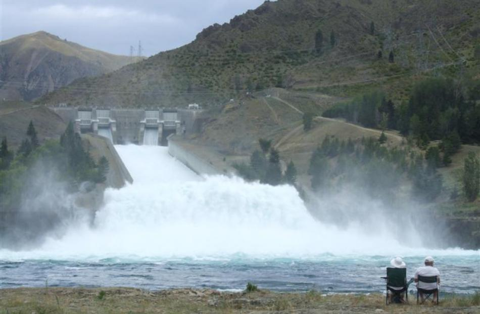 The spilling spectacle at the Benmore dam has proved a popular attraction for visitors to the...