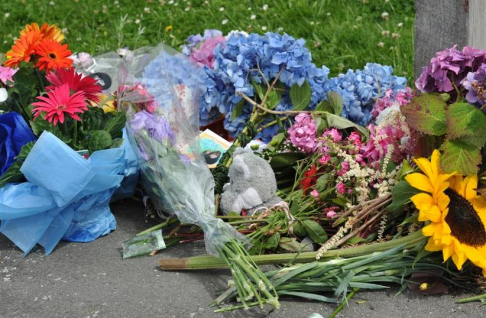 The St Leonards community showed its love for Bradley and Ellen Livingstone by leaving flowers...
