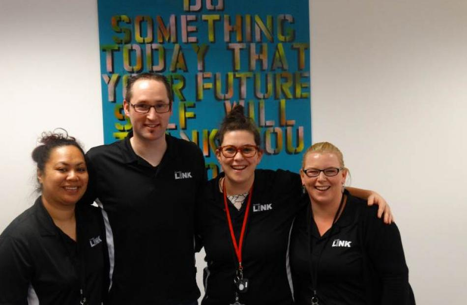 The successful Dunedin Youth Link team (from left) case manager Mona Nafatali, work broker Kendal...