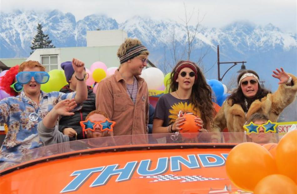 The Thunder Jet float embraced the '70s theme during the  parade. Photo by Tracey Roxburgh.