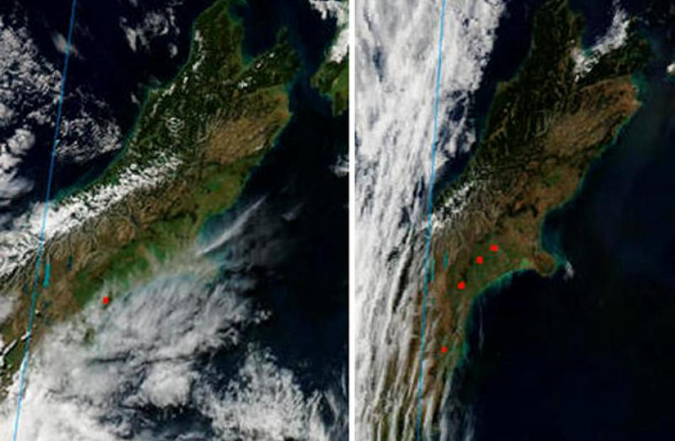 The top of the South Island is also tinder dry and a lack of snow cover is evident on the...