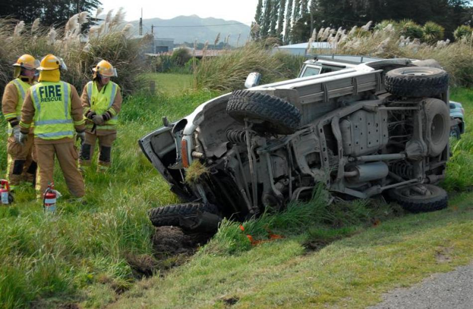 The two occupants of this Toyota Landcruiser were treated for moderate injuries after their...