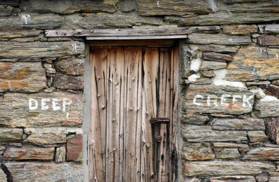 The venerable hut's door. Photos by Stephen Jaquiery.