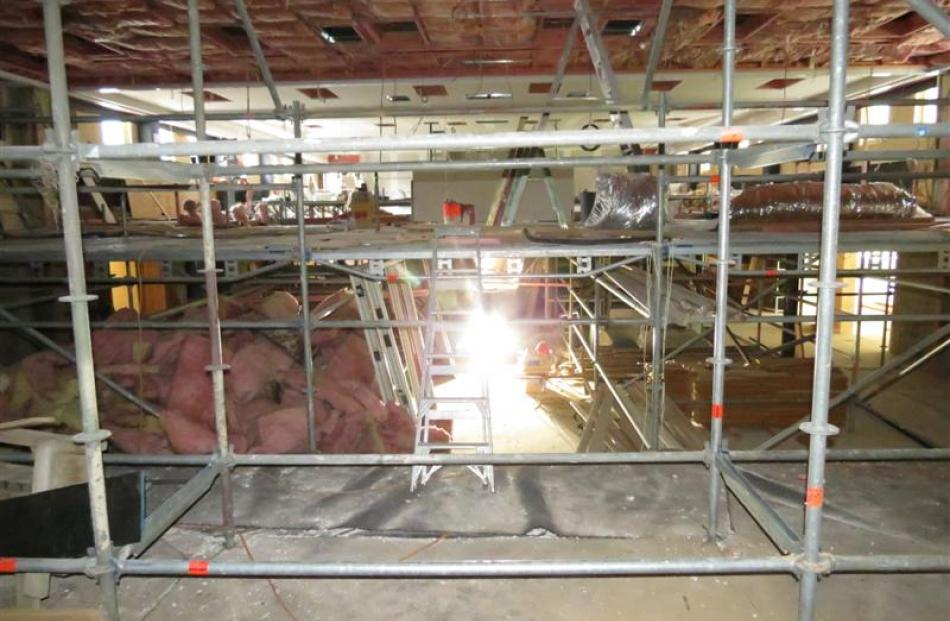 The view from centre stage into the Queenstown Memorial Hall. It is planned to have the entire...
