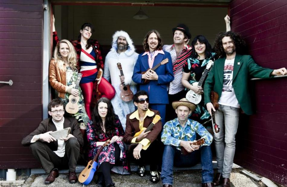 The Wellington International Ukulele Orchestra, renowned for its  hilarious cover versions of pop...