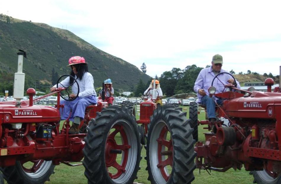 The West Otago Vintage Machinery Club's 'dancing tractors'  display was a hit at the Mr Benger A ...