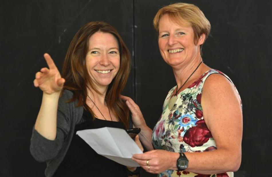 Theatre practitioner Cindy Diver (left) and Dr Susie Lawless discuss their joint project. Photo...
