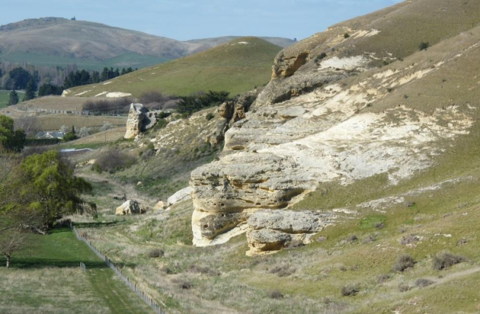 These limestone outcrops in the Waitaki Valley make up part of the Department of Conservation's...