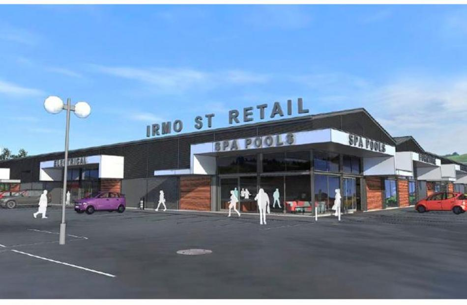 This  image of what the Irmo St Retail development might look like appears in an online...