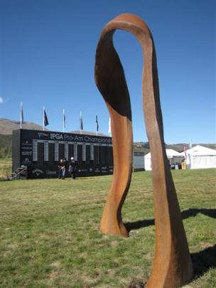 """This Mark Hill sculpture takes pride of place within """"The 19th""""."""