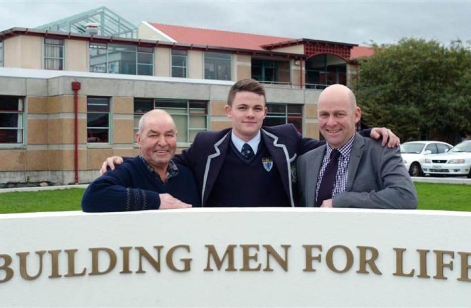 Three generations of the Munro family (from left) George (74), grandson Casey (17) and son Darren...