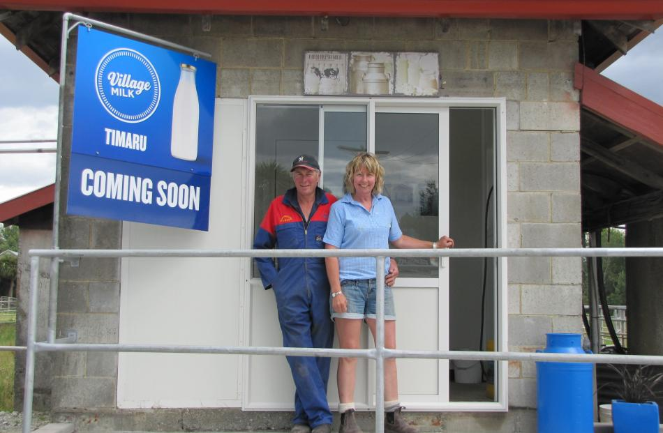 Timaru dairy farmers Stu and Andrea Weir are looking forward to opening a Village Milk outlet on...