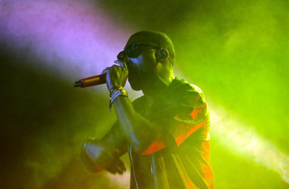 Tinie Tempah quickly had the crowd buzzing. Photo by Peter McIntosh