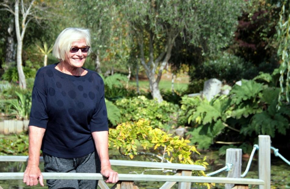 Trudi Stewart relaxes at home, at Northview Gardens, which was  recently awarded a three-star...