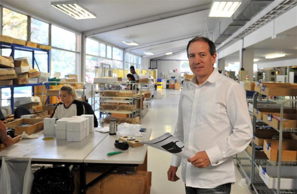 Tuapeka Gold Print managing director Brad Houghton. Photos by Linda Robertson.