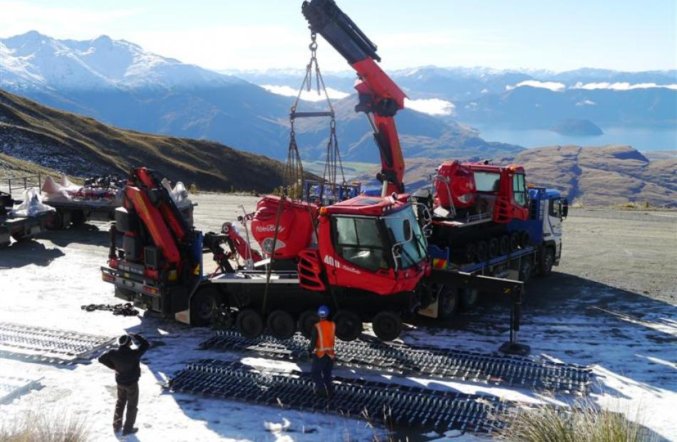 Two new groomers for  Treble Cone Skifield, near Wanaka, are among the improvements being made to...