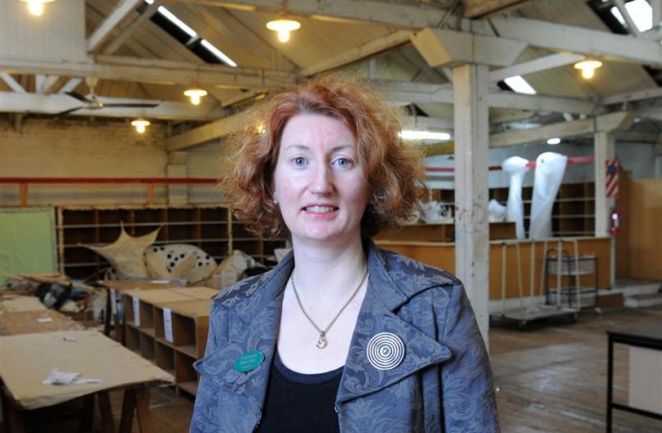 University Book Shop manager Phillippa Duffy stands in an empty upstairs space the shop is...