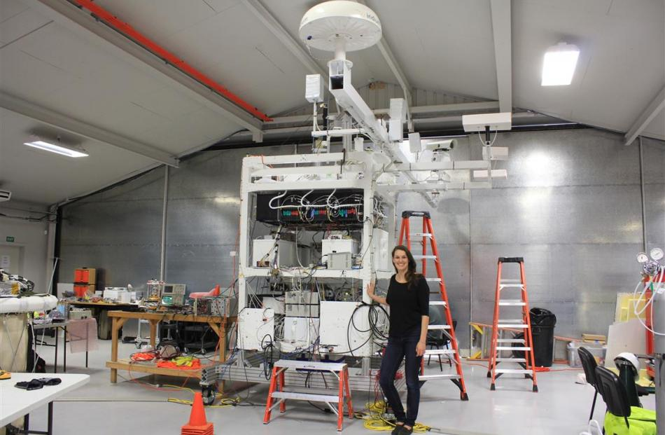University of California, Berkeley PhD candidate Carolyn Kierans with the Compton Spectrometer...