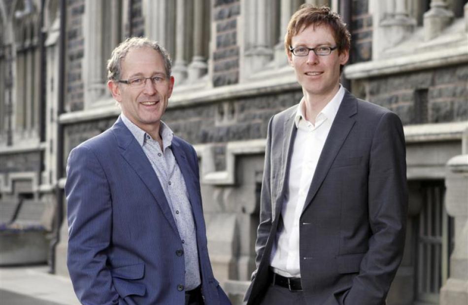 University of Otago academics Associate Prof Haxby Abbott (left) and Dr Peter Fineran. Photo...