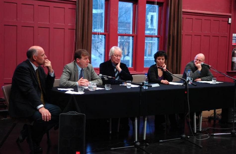 University of Otago academics discussing the safety of the public post-bin Laden are (from left)...
