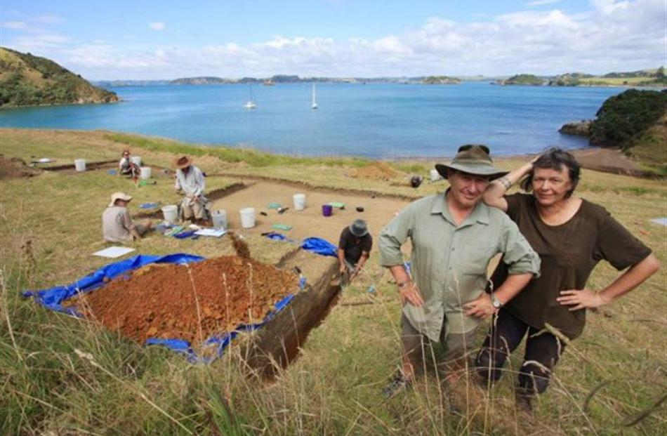 University of Otago archaeologist Associate Prof Ian Smith and archaeology honorary research...