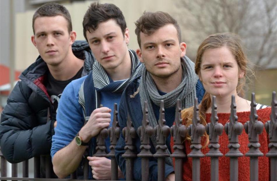 University of Otago medical students (from left) Nick Jones(23), Jonny Mair (24), Alex Hedley (23...