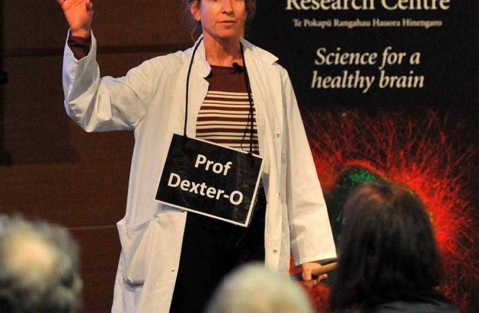 University of Otago neuroscientist Prof Liz Franz yesterday discusses ways of tricking the brain,...