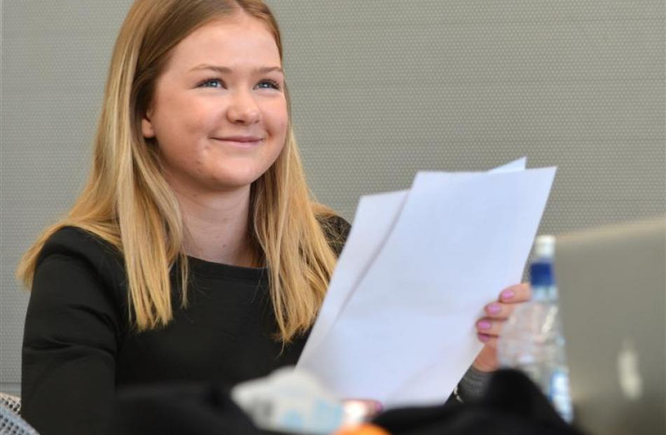 University of Otago student India Leishman (19) looks at new data revealing her future earning...