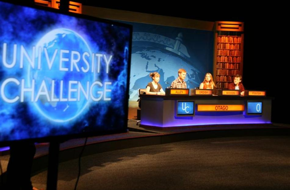 University of Otago students (from left) Fran Allen, Matthew Ordish, Naomi Woods (captain) and...