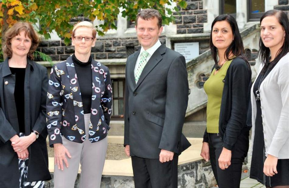 University of Otago teachers (from left) Drs Ros Whiting, Lynnette Jones, Timothy Cooper, Suzanne...