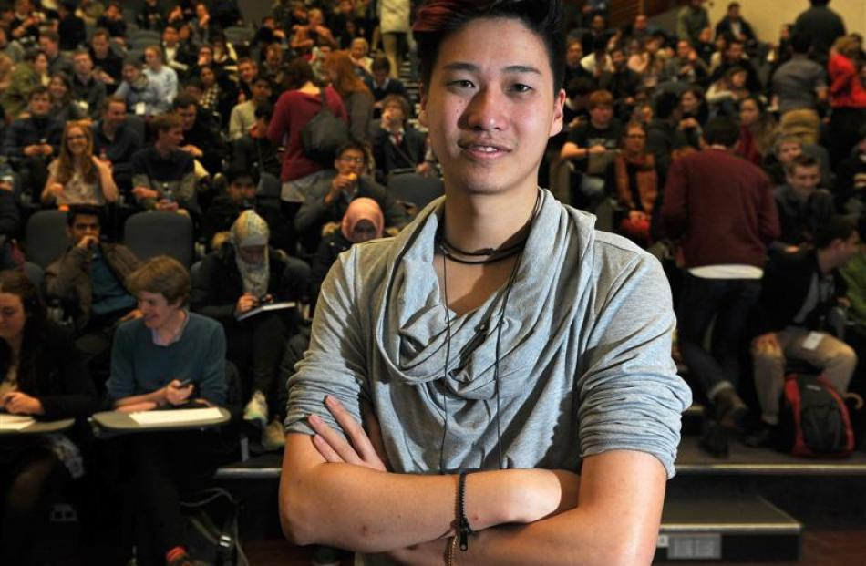 University of Sydney student Lucian Tan, who is adjudicating at the Australs debating...
