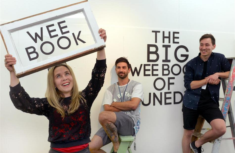 Urban Dream broker Tamsin Cooper (left) with The Big Wee Book designers Malcolm Hayes (centre)...