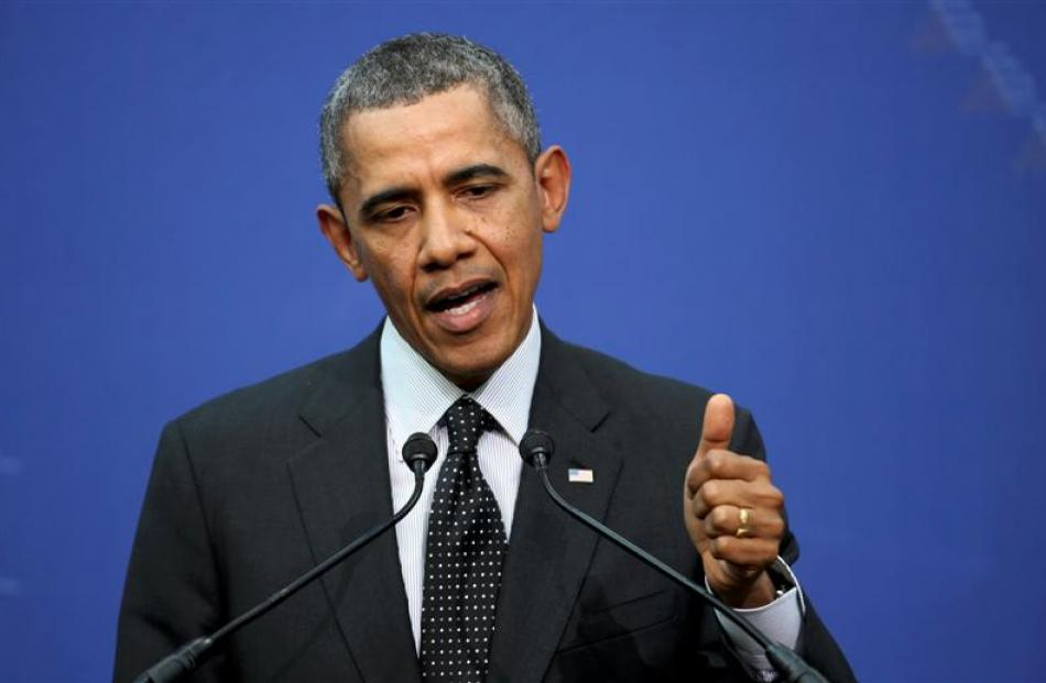 US President Barack Obama during the closing news conference of the Nuclear Security Summit in...