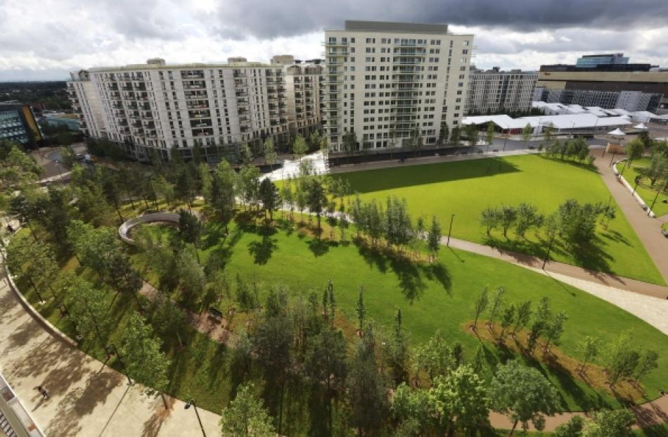 Victory Park in the Olympic Village, built for the London  2012 Olympic Games. Photo by Reuters.