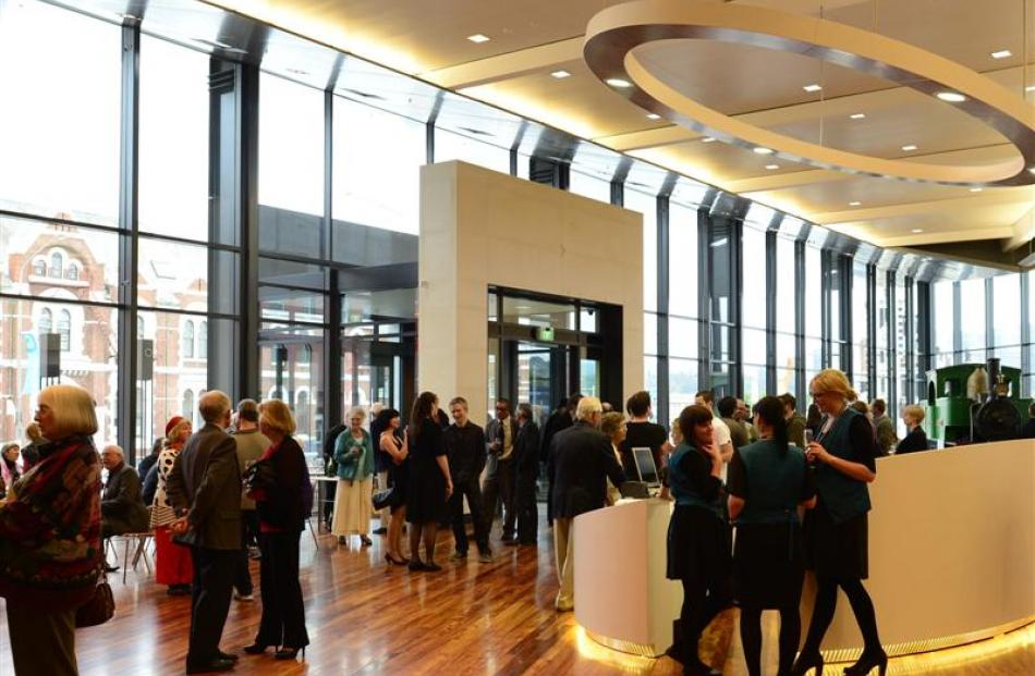 Visitors to  Toitu Otago Settlers Museum enjoy the museum's new brightly lit Josephine foyer, at...