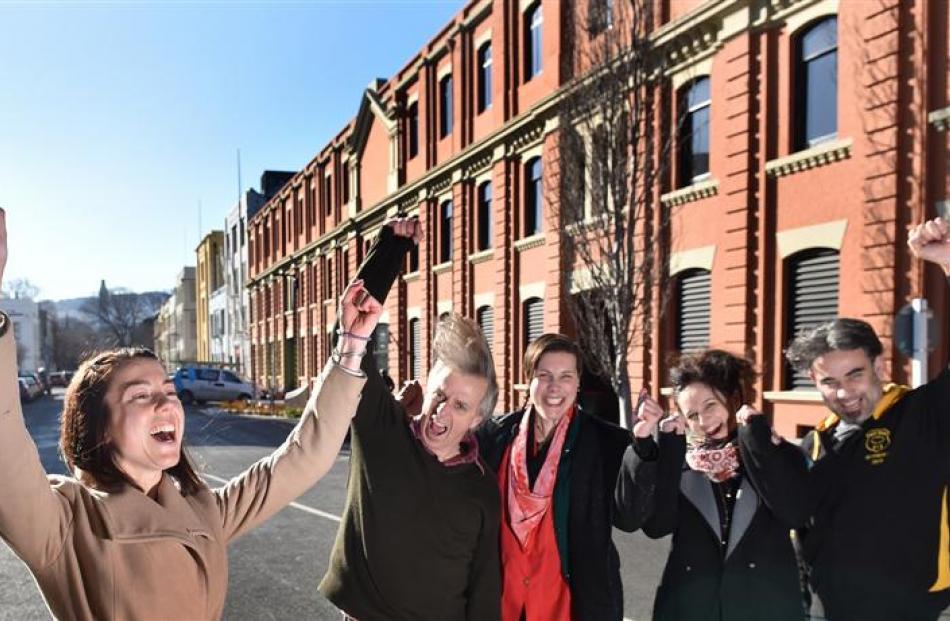 Vogel Street Party organising committee members (from left) Jess White, Scott Muir, Fiona...