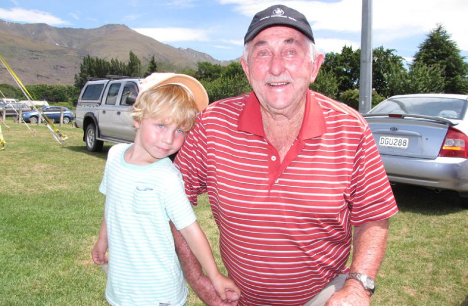 Charlie (4) and Neville Harris, both of Wanaka.