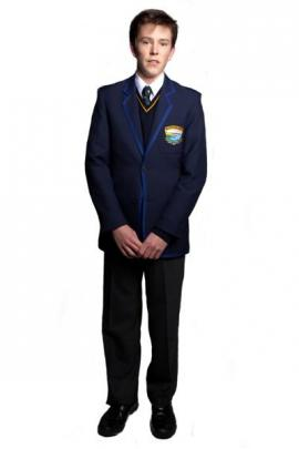 Wakatipu High School pupil Oliver Jolly (17) models the school's new male uniform. Photos by...