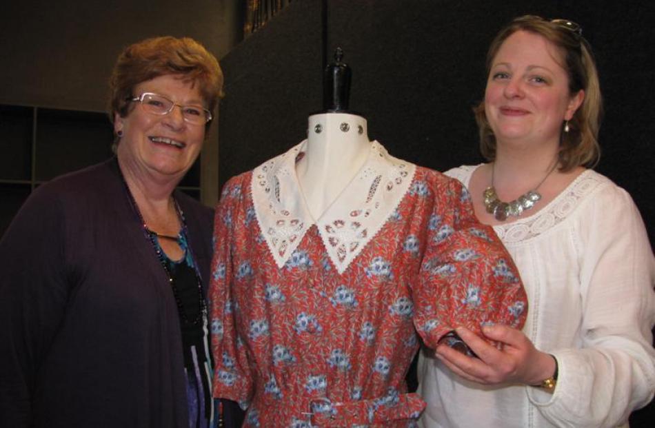 Wanaka Embroidery School organising committee chairwoman Ainslie Bannister (left), of Dunedin,...
